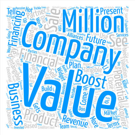 How To Boost The Value Of Your Business text background word cloud concept Illusztráció