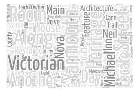 hi end: Hello From Nova Scotia Part Victorian Heritage In Yarmouth text background word cloud concept