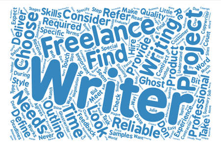 plague: How to Choose a Freelance or Ghost writer text background word cloud concept