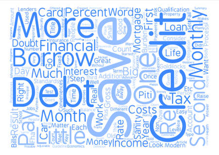 How Much Should You Borrow text background wordcloud concept