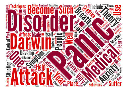 How a Panic Disorder Evolved into Scientific Theory Word Cloud Concept Text Background Banco de Imagens - 72071206