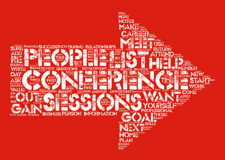 keyword: How to Get the Most out of Your Next Conference text background wordcloud concept