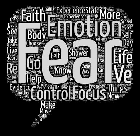 dealt: How I Conquered Fear And You Can Too Word Cloud Concept Text Background