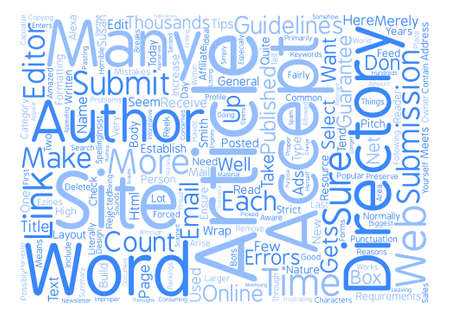 literally: How To Guarantee Your Article Gets Published text background word cloud concept Illustration