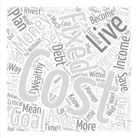 critical: How To Live Within Your Means Word Cloud Concept Text Background