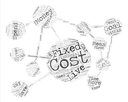 means: How To Live Within Your Means text background word cloud concept Illustration