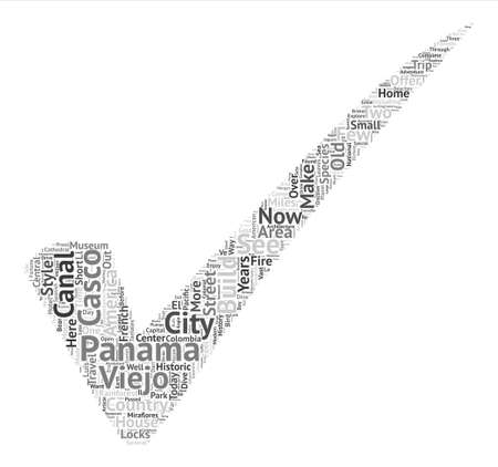 Hours In Panama A Travel Guide To Panama City Word Cloud Concept Text Background