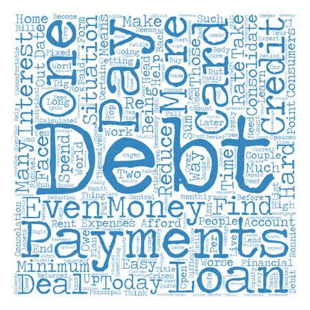 有料のオフ負債テキスト背景の wordcloud コンセプト