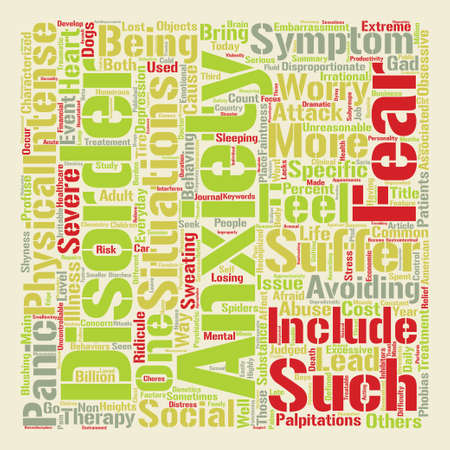 How Is Your Anxiety Today text background word cloud concept Illustration