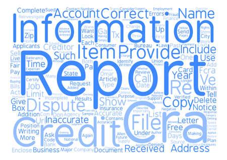 どのように信用報告書のエラー テキスト背景単語雲概念に紛争