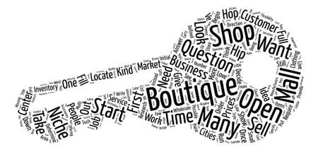 How to Open a Boutique text background wordcloud concept