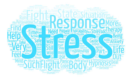How Hypnotherapy Helps With Stress And Anxiety text background word cloud concept