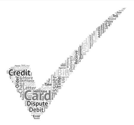 issuer: How Do You Dispute An Error On Your Credit Card Word Cloud Concept Text Background Illustration