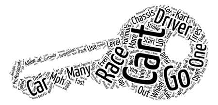 History of Go Carts text background word cloud concept