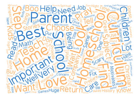 How Do I Find The Best Homeschool Curriculum Word Cloud Concept Text Background Ilustrace