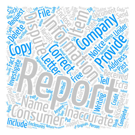 getting better: How To Improve Your Credit Report text background wordcloud concept