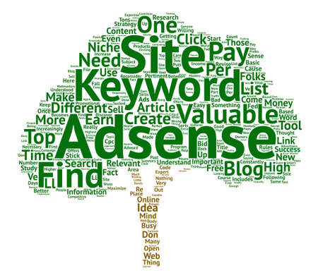 How To Find Your Own Valuable Adsense Keywords For Free Word Cloud Concept Text Background