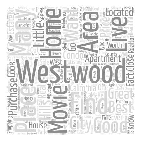 listings: House listings in Westwood text background word cloud concept