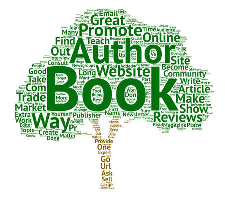 How To Promote A Book text background word cloud concept