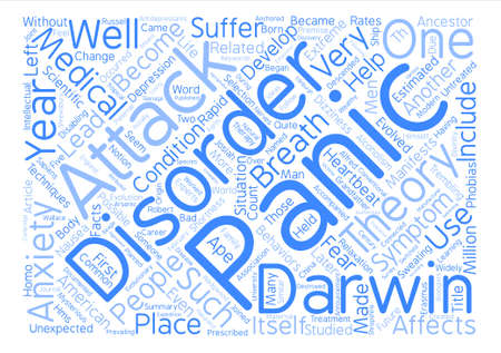 manifests: How a Panic Disorder Evolved into Scientific Theory text background word cloud concept
