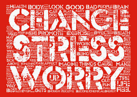 How Stress Effects Your Body And Brain And What To Do About It text background wordcloud concept