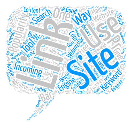 How To Build Link Popularity text background word cloud concept