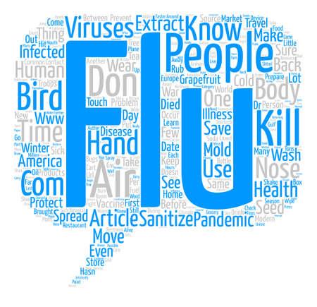 bird flu: How to Prevent Bird Flu text background word cloud concept Illustration