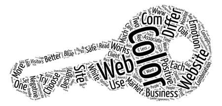 How To Choose Your Website Colors text background word cloud concept
