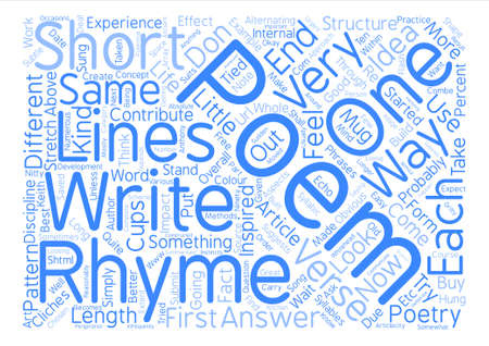 article writing: How Do You Write Poetry text background word cloud concept Illustration