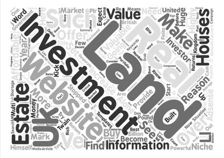 stopped: How To Make Money With A Simple Website About Land Investment Word Cloud Concept Text Background