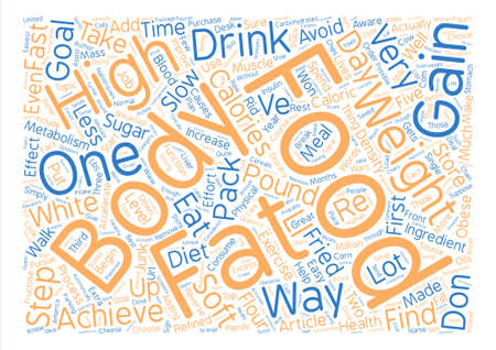 How To Not Get Fat In Five Easy Steps text background word cloud concept