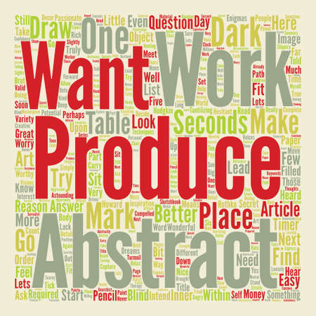 heard: How To Produce An Abstract Image Part text background word cloud concept