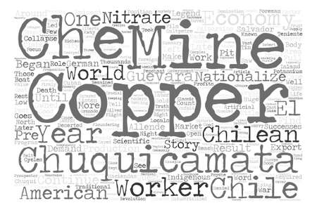 legend: How Copper started the legend of Che Guevara Word Cloud Concept Text Background Illustration