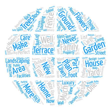 Wie Sie das Beste aus Ihrem Garten machen Word Cloud Concept Text Hintergrund
