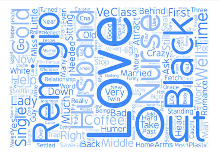 settled: How A Head Cold Got Me Married Word Cloud Concept Text Background
