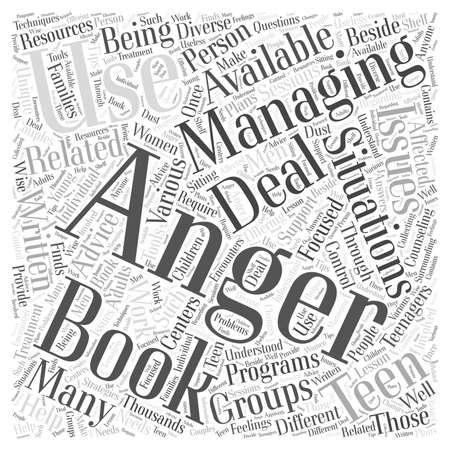 Are there Anger Management Books Available Word Cloud Concept Illusztráció