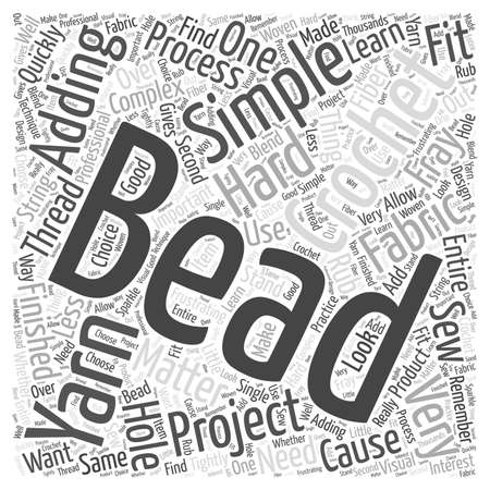 Adding Beads to Your Crochet Projects Word Cloud Concept