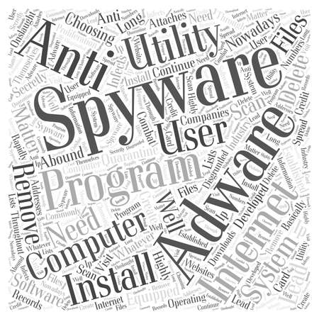 adware: adware software removal spyware Word Cloud Concept
