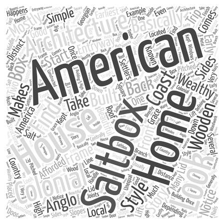 American Architecture Word Cloud Concept Illustration