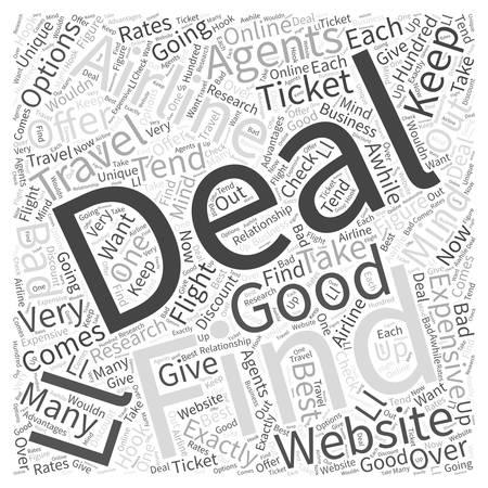 deals: Airline Ticket Deals Word Cloud Concept
