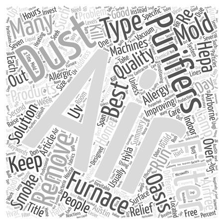 Are Air Purifiers the Solution to Improving Indoor Air Quality Word Cloud Concept