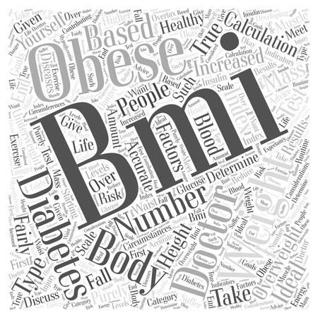 BMI: A Healthy BMI for Diabetics Word Cloud Concept