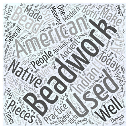 american indian art auctions beadwork Word Cloud Concept
