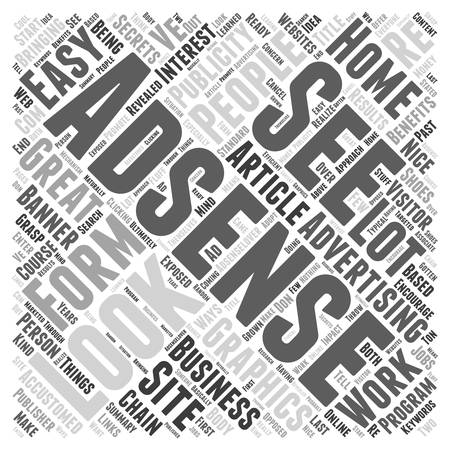 exposed: Adsense secrets are exposed home based business secrets revealed by adsenselovercom Word Cloud Concept
