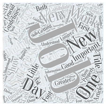 crucial: Achieving Success in New Jobs Word Cloud Concept