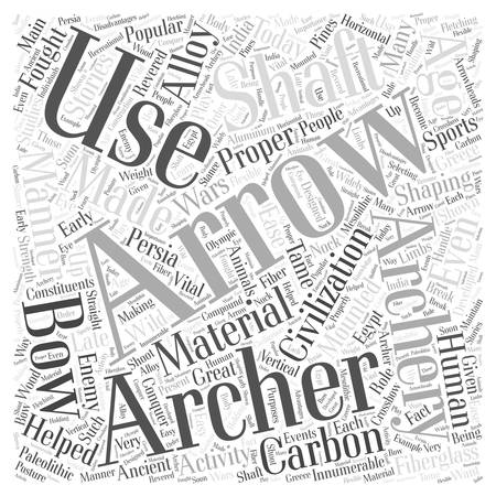 the enemy: archery arrows Word Cloud Concept