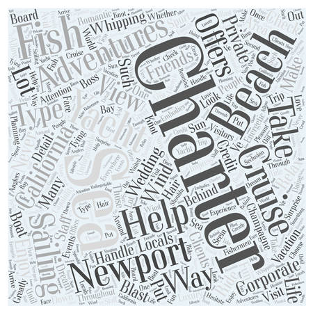 Adventures At Sea Newport Beach Word Cloud Concept