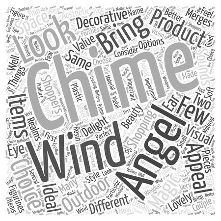 angel wind chimes Word Cloud Concept