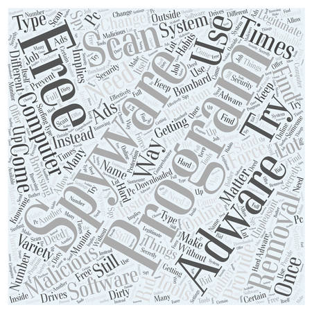 adware free removal scan spyware Word Cloud Concept