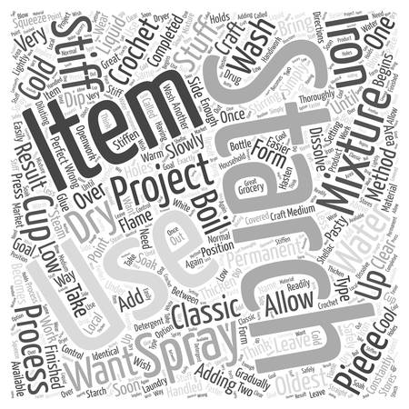 finished: Adding Starch to Your Finished Crochet Projects Word Cloud Concept
